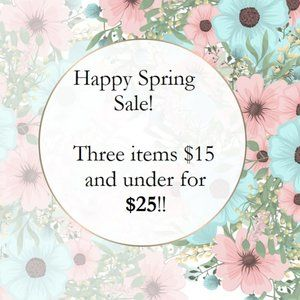 SALE! 3 for $25! See here for details
